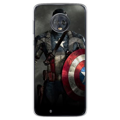 Imagem de Capa para Moto G6 Play - The Avengers  Capitao América 1