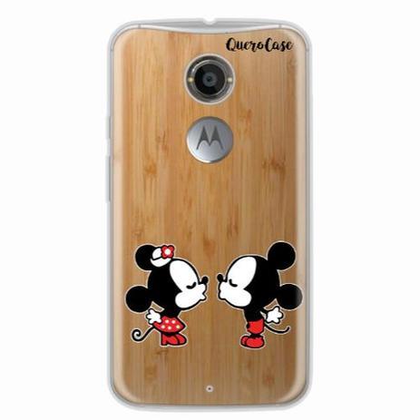 7b803b5b26e Capa para Moto X2 Mickey e Minnie 07 - Quero case - Capinha de ...