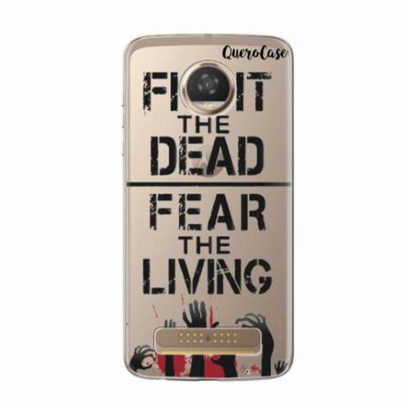 Imagem de Capa para Moto Z2 Play Walking Dead - Fight The Dead