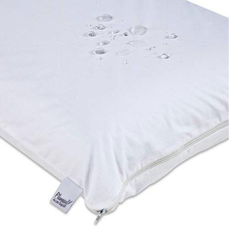 Imagem de Capa para Travesseiro Impermeável com Zíper 50x70cm Tecido 100% Algodão Percal 180 Fios Plumasul