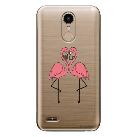 Imagem de Capa Personalizada para LG K10 Pro M400 Casal Flamingos - TP316