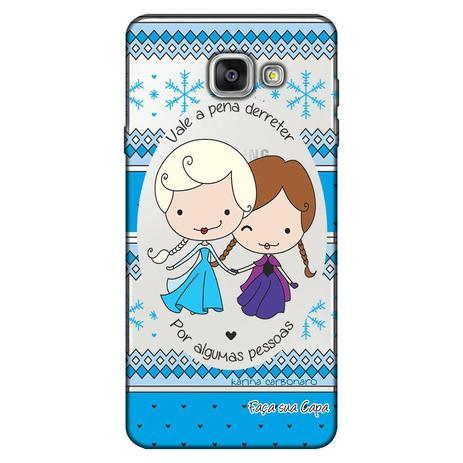 Imagem de Capa Personalizada para Samsung Galaxy A3 2016 Princesas Elsa e Ana - TP125