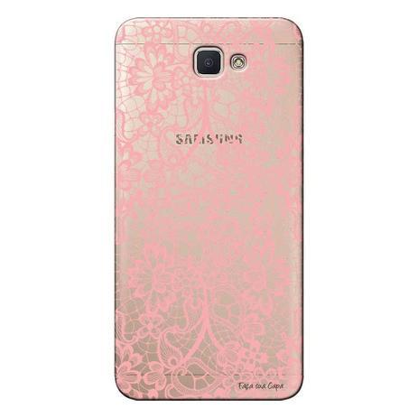 Imagem de Capa Personalizada para Samsung Galaxy j7 Prime Renda Rosa - TP284