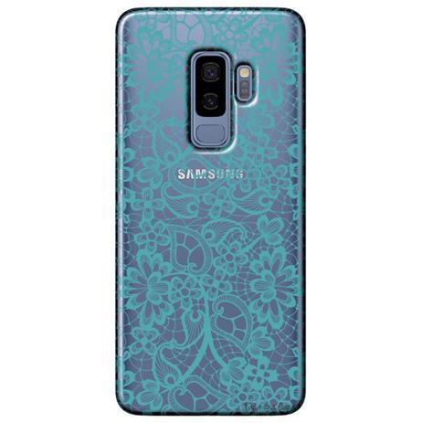 Imagem de Capa Personalizada para Samsung Galaxy S9 Plus G965 - Renda Azul - TP280