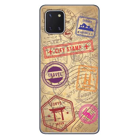 Imagem de Capa Personalizada Samsung Galaxy Note 10 Lite - Travel Cards - MC04