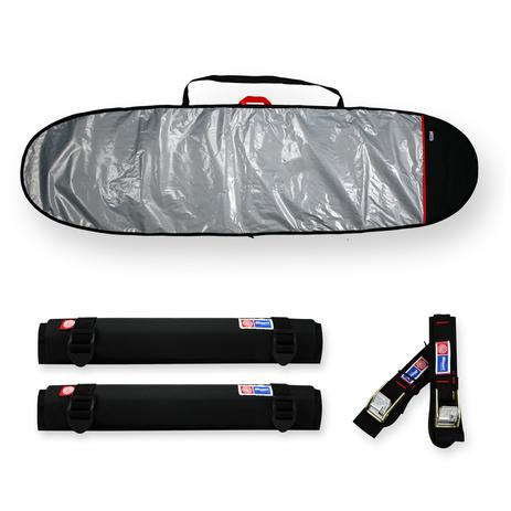 31115dea4 Capa prancha surf funboard refletiva e acolchoada 75 a 78 + fita rack 5m +  tubo espuma 40cm - maori extreme