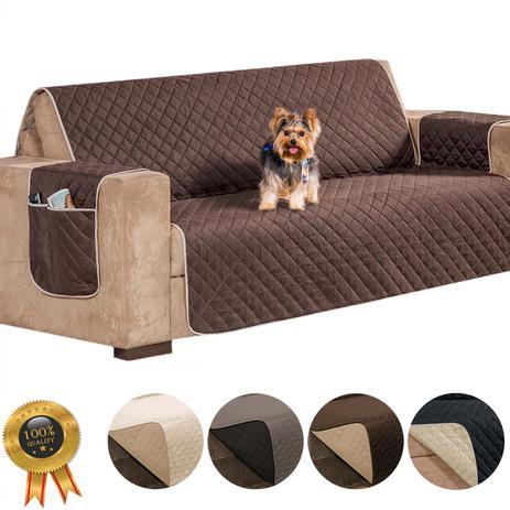 Imagem de Capa protetor para sofá 3 lugares impermeável