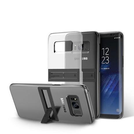the best attitude 3b217 a4db3 Capa protetora Galaxy S8 Anymode kicktok cover transparente - Samsung