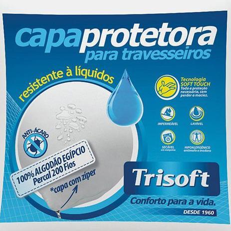 Imagem de Capa Protetora Impermeável Para Travesseiro Percal 200 Fios Trisoft