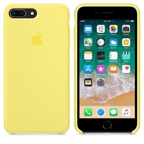 Imagem de Capa Protetora Silicone Aveludado iPhone 7 Plus / 8 Plus  Amarelo