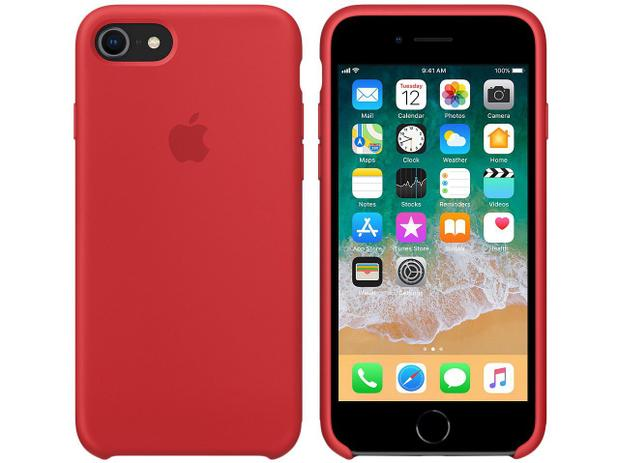 Capa Protetora Silicone para iPhone 7 e iPhone 8 - Apple Product (RED) MQGP2ZM/A
