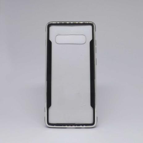Imagem de Capa Samsung Galaxy S10 Plus Transparente com Borda Metalizada