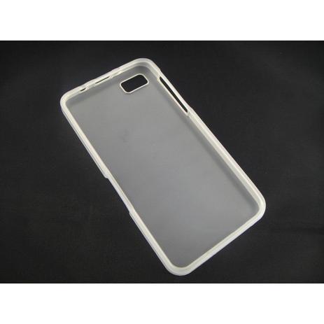 Capa TPU Transparente BlackBerry Z10 + Película Flexível