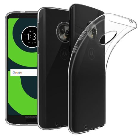 Imagem de Capa transparente de silicone para Moto G6 Play