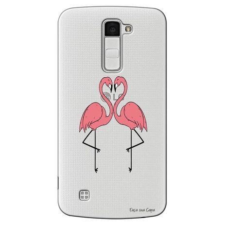 Imagem de Capa Transparente Exclusiva para LG K10 2017 Casal Flamingos - TP316