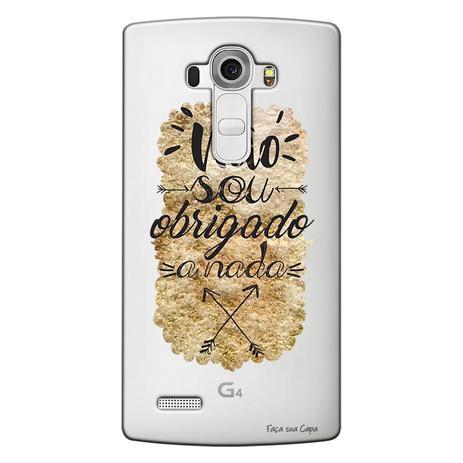 afdc6640c70 Capa Transparente Personalizada Exclusiva LG G4 H815P Frases - TP194 ...