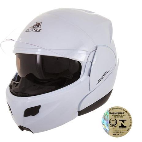 Capacete Articulado Attack Solid Branco Pro Tork - Capacetes ... 3fc0b014821