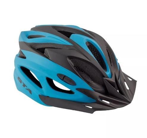 Imagem de Capacete Ciclismo Gta Bike C Sinalizador Led preto/Azul