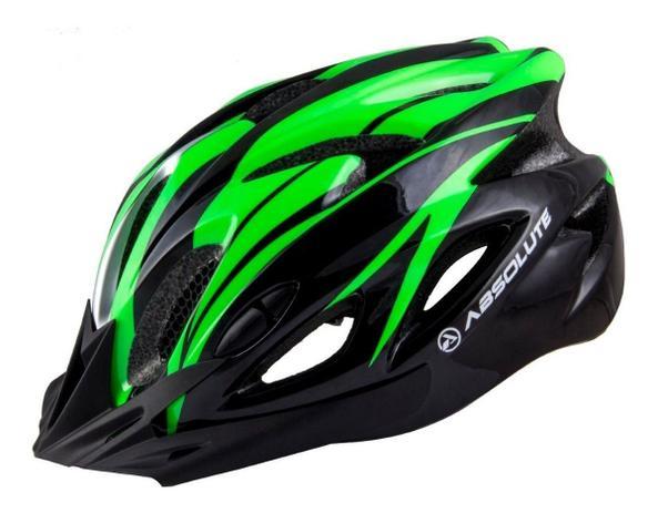Imagem de Capacete Ciclismo Led Absolute Bike Nero Preto/Verde G