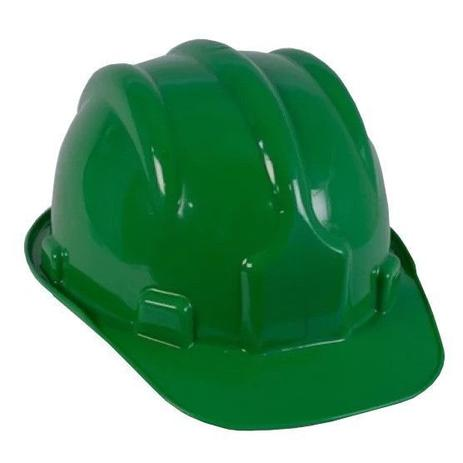 Capacete de Segurança Verde com Carneira - PRO SAFETY - Capacete de ... fca71cf8bb
