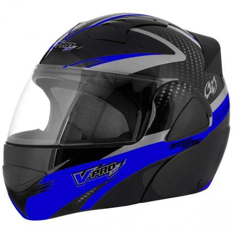 1aa0202d4 Capacete Escamotiavel Motocicleta Moto VPro Jet 2 Carbon Preto Motoqueiro (VPRO  JET 2) - Pro tork