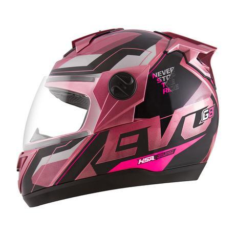 Imagem de Capacete Fechado G8 Evo Pro Tork Pink Brilhante