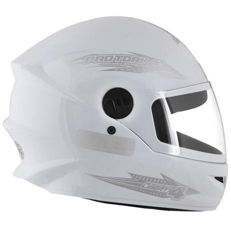 Imagem de Capacete Fechado Moto Masculino Branco New Liberty Four Pro Tork