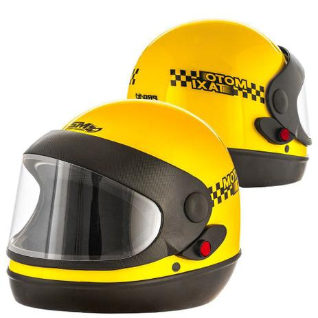 8129755a7d4bf Capacete Fechado Moto Taxi Sport Viseira Automatico Pro Tork Motoboy ...