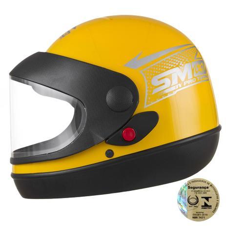 Capacete Fechado Sport Moto Amarelo Pro Tork - Capacetes - Magazine ... 3719e0a8bb8