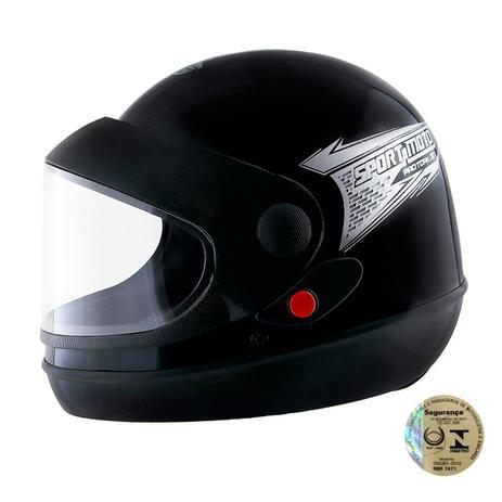 8aceac378fc55 Capacete Fechado Sport Moto Preto CAP-356PT Pro Tork - Capacetes ...
