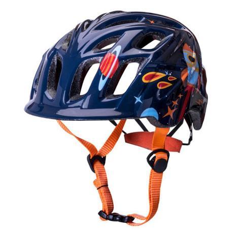 ae4fadc8e Capacete Infantil Bike Kali Chakra Galaxia - Azul Laranja - Capacete ...