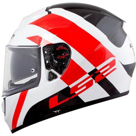 Capacete LS2 Vector FF397 Trident Branco Vermelho (Tri-composto ... 28a4507d541
