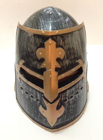 Imagem de Capacete Medieval Gladiador Cosplay Elmo Fechado - AD594