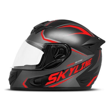 Imagem de Capacete Moto Fechado Mixs Mx2 Skyline Fosco