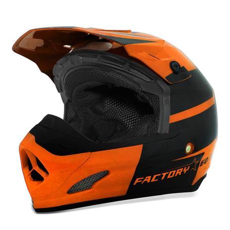 1a86edfb92330 Capacete Motocross Pro Tork TH-1 Factory Edition Laranja e Preto ...