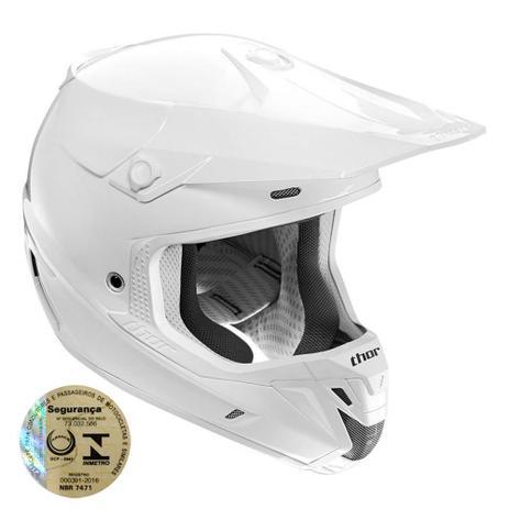 Imagem de Capacete Motocross Verge Solid Branco 0110 Thor