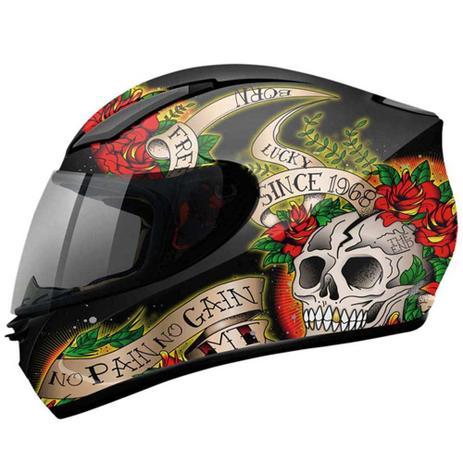 Capacete MT Revenge Skull Rose - Mt helmets - Capacetes - Magazine Luiza 1efafdc8949