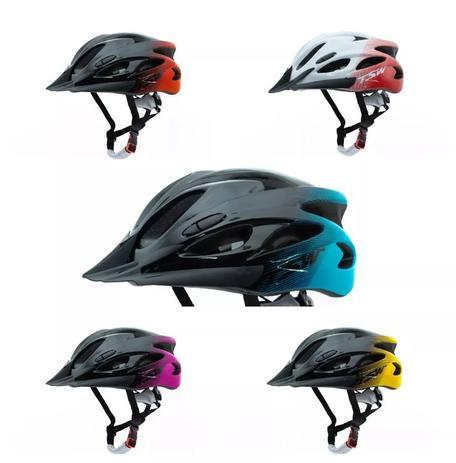 Imagem de Capacete mtb Tsw Raptor Com Led E Viseira Ciclismo Mtb Cores