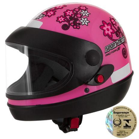 Capacete Sport Moto For Girls Rosa Pro Tork - Capacetes - Magazine Luiza e10e4165d33