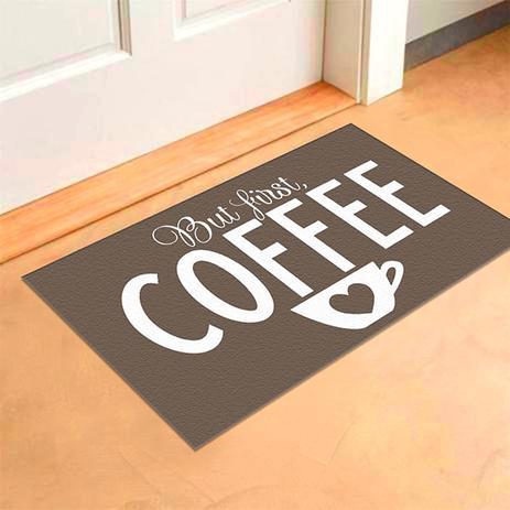 3431e3078 Capacho de Cozinha Black Coffee Com Antiderrapante-Marrom-40 x 65 - Style  brazil
