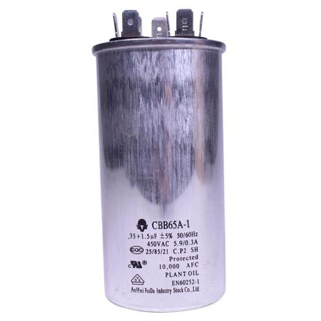 Imagem de Capacitor duplo 35+1.5 mfd 450vac