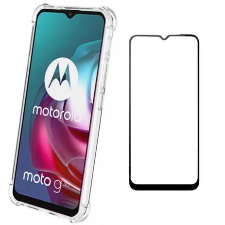 Imagem de Capinha Anti Impactos Motorola Moto G30 + 2x Películas 5D Nano Cerâmica