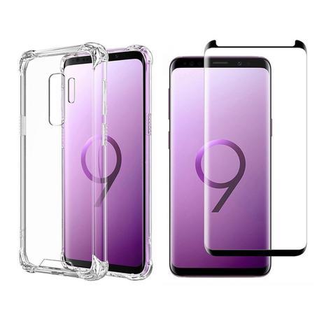 Imagem de Capinha Antichoque e Película Gel 5D Samsung S9