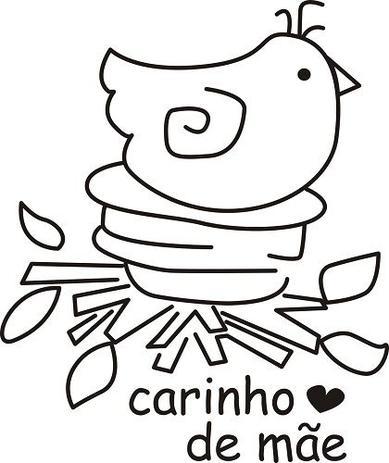 Imagem de Carimbo em Borracha com Madeira Passarinho no Ninho 056/ZO