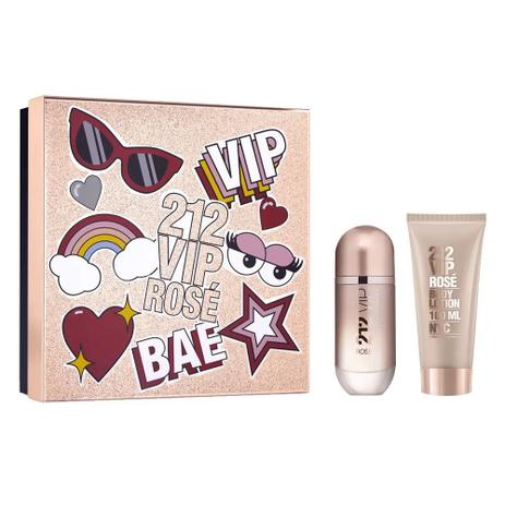 c540a41619 Carolina Herrera 212 Vip Rosé - Kit Perfume EDP 80 ml + Body Loção 100 ml