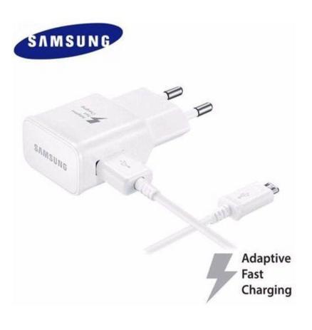 Imagem de Carregador Completo Fast Charge Original Samsung Para Galaxy Micro USB V8 S1 S2 S3 S4 S5 S6 S7 Edge A10 A10s A01  Branco