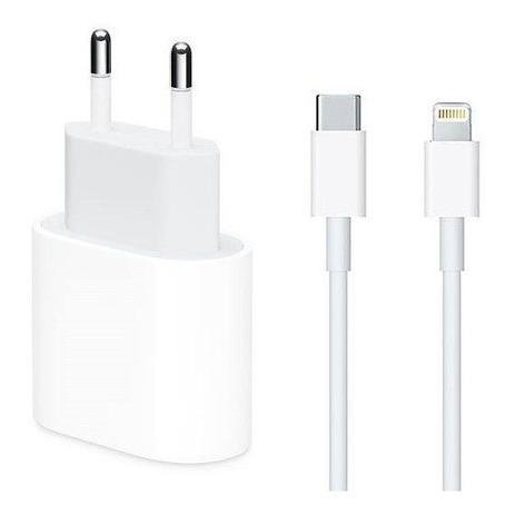 Imagem de Carregador completo iphone X, 11 e 12 Fonte USB-C 20W + Cabo USB-C Lightning de 1M