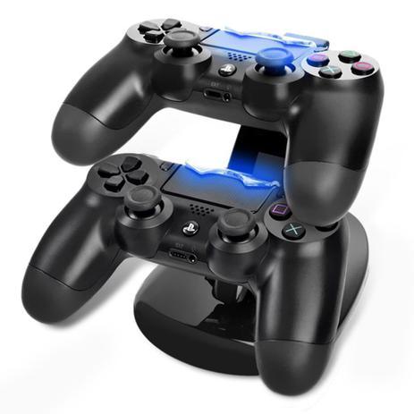 Imagem de Carregador Controle PS4 Suporte Dock Vertical Playstation 4 + Cabo USB - Oivo