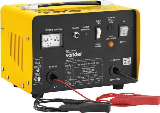 Imagem de Carregador de bateria 32-150ah 12v 220v cbv1600 - Vonder