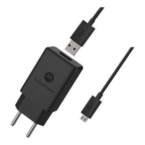 Imagem de Carregador Motorola Turbo Power Micro Usb V8 Moto G3 E4 G4 Plus E5 Play G5 G5s G6 Play Preto m0058